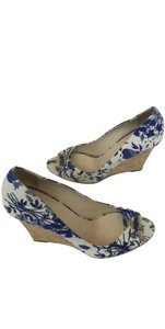 Gucci Navy blue, Light blue, Ivory Wedges
