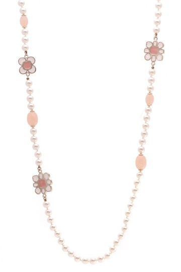 Chanel Chanel Metiers d'Art Paris-Seoul Pearl Flower Blossom Necklace - Gold Image 1