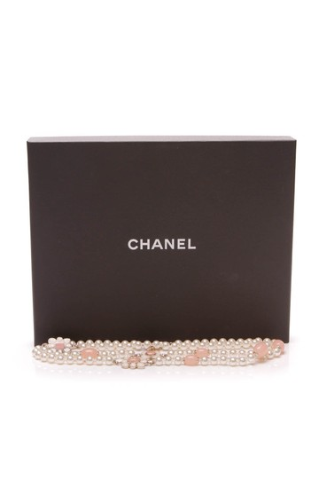 Chanel Chanel Metiers d'Art Paris-Seoul Pearl Flower Blossom Necklace - Gold Image 4
