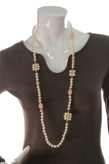 Chanel Chanel Metiers d'Art Paris-Seoul Pearl Flower Blossom Necklace - Gold Image 5