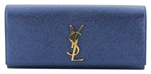 Saint Laurent Classic Monogram blue Clutch