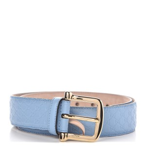 Gucci Gucci Mineral Blue Microguccissima Soft Leather Belt 281548 Size 90/36