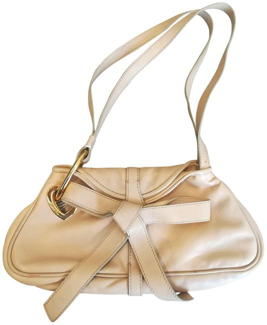 Item - Clutch Bow Baguette/ Beige Lambskin Leather Baguette
