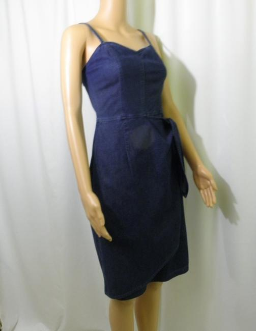 Liz Claiborne short dress Denim Jeans Wrap Mock Wrap on Tradesy Image 1