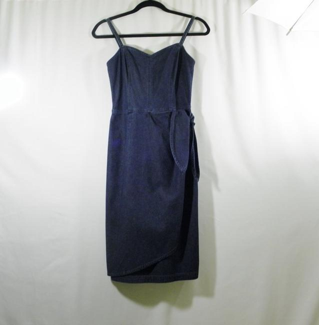 Liz Claiborne short dress Denim Jeans Wrap Mock Wrap on Tradesy Image 2