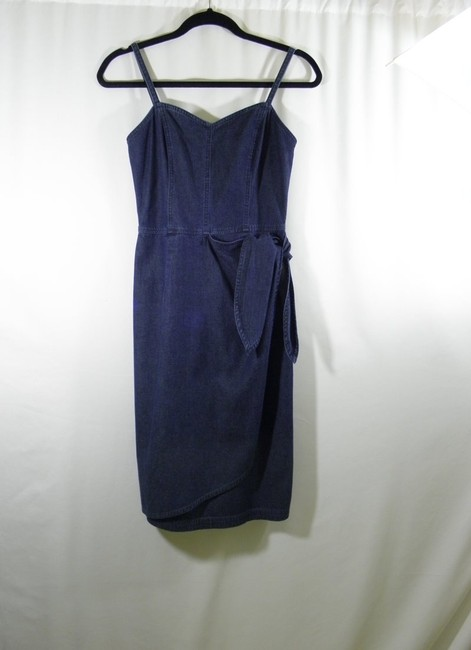 Liz Claiborne short dress Denim Jeans Wrap Mock Wrap on Tradesy Image 4