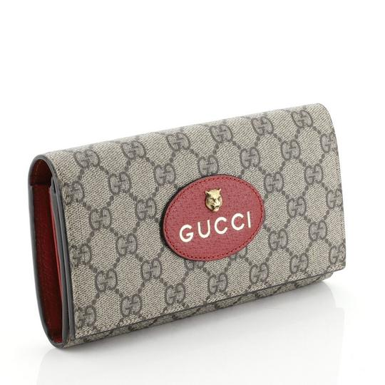 Gucci Neo Vintage Continental Wallet brown Clutch Image 2