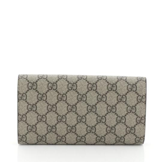 Gucci Neo Vintage Continental Wallet brown Clutch Image 3
