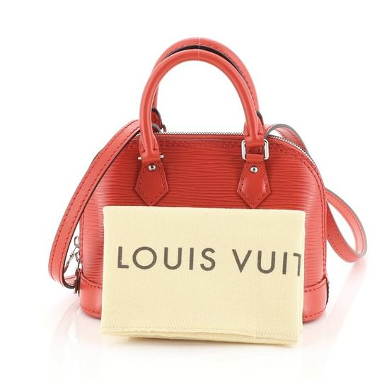 Louis Vuitton Alma Epi Leather Satchel in red Image 1