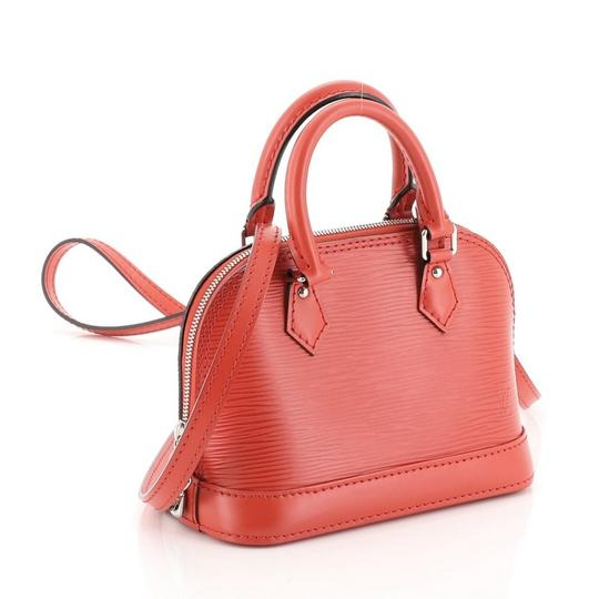 Louis Vuitton Alma Epi Leather Satchel in red Image 2