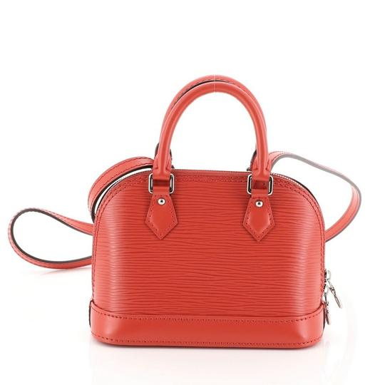 Louis Vuitton Alma Epi Leather Satchel in red Image 4