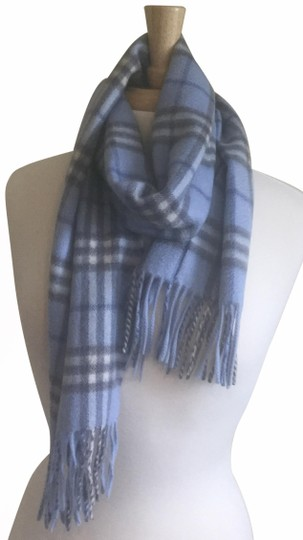 Preload https://img-static.tradesy.com/item/25977318/burberry-blue-grey-white-cashmere-scarfwrap-0-2-540-540.jpg