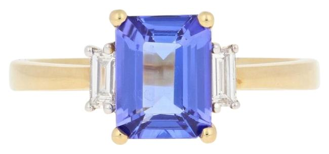 Wilson Brothers Jewelry Yellow New 2.74ctw Rectangle Cut Tanzanite & Diamond 18k Gold E5793 Ring Wilson Brothers Jewelry Yellow New 2.74ctw Rectangle Cut Tanzanite & Diamond 18k Gold E5793 Ring Image 1