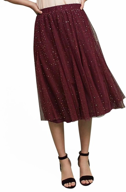 Item - Burgundy Sequin Skirt Size 6 (S, 28)