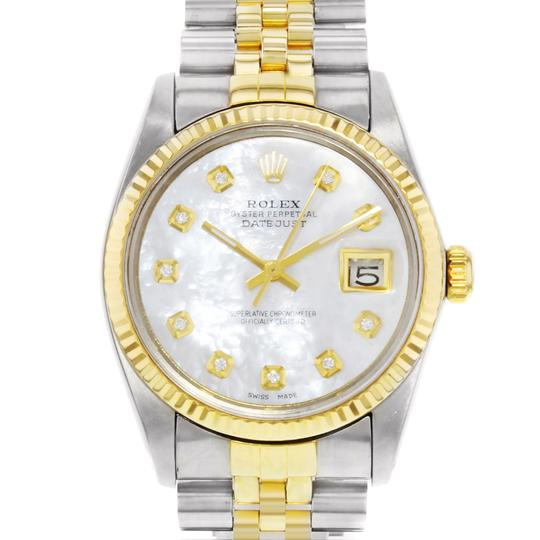 Rolex Datejust 16013 Holes 1984 MOP Men's Watch Image 1