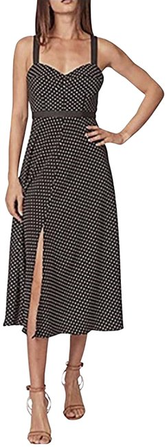Item - Black/White Lucille With Slit Mid-length Casual Maxi Dress Size 4 (S)