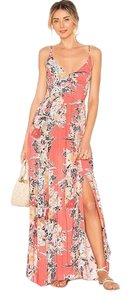Red and Peach Maxi Dress by Free People