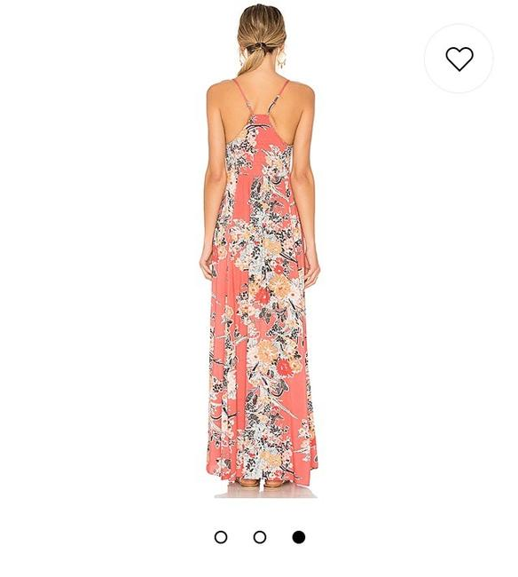 Red and Peach Maxi Dress by Free People Image 1