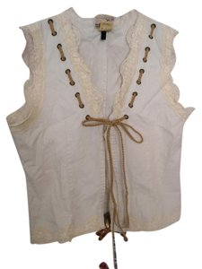 Buffalo Lace Vest Vest Top White