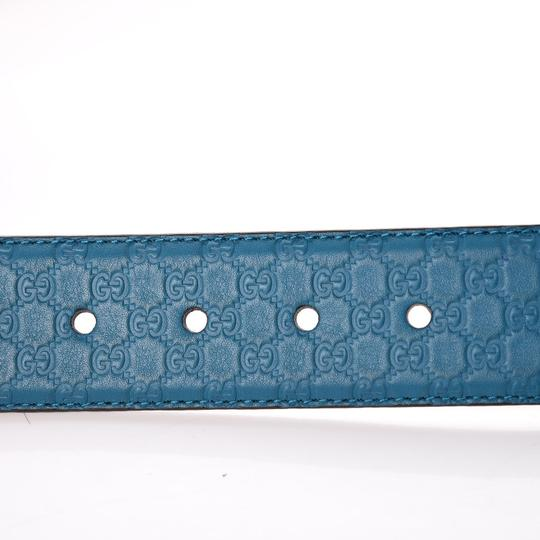Gucci Gucci Cobalt Blue Microguccissima Soft Leather Belt 281548 Size 90/36 Image 4