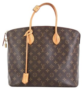 Louis Vuitton Lockit Nm Monogram Canvas Tote in brown