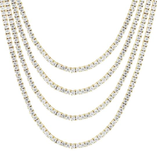 Preload https://img-static.tradesy.com/item/25977674/master-of-bling-10k-gold-mens-yellow-1-row-tennis-choker-2mm-chain-micro-20in-necklace-0-3-540-540.jpg