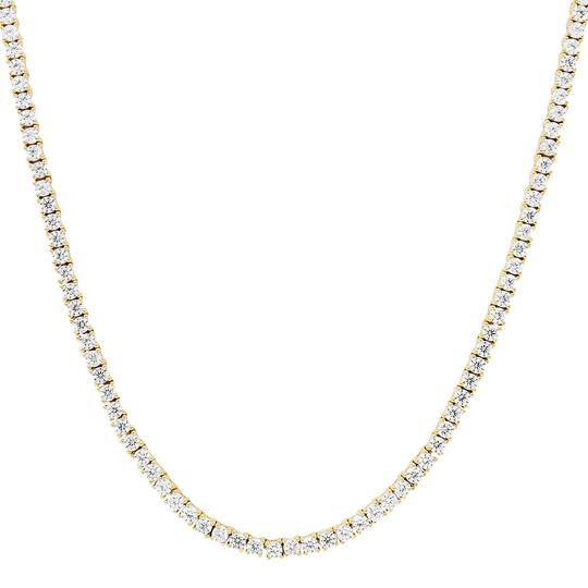 Master Of Bling Mens 10K Yellow Gold 1 Row Tennis Choker 2MM Chain Micro Necklace 20IN Image 1