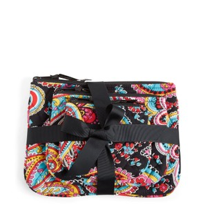 Vera Bradley Vera Bradley Cosmetic Trio in Parisian Paisle(Set of 3 cosmetic cases)