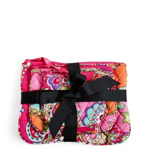 Vera Bradley Vera Bradley Cosmetic Trio in Pink Swirls (Set of 3 cosmetic cases)