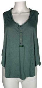 Free People Cotton Top Green