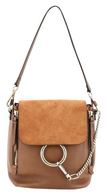 Item - Faye And Suede Medium Brown Leather Backpack