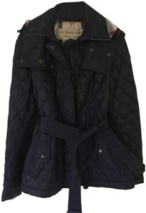 Burberry Quilted Puffer Belt Trench Coat