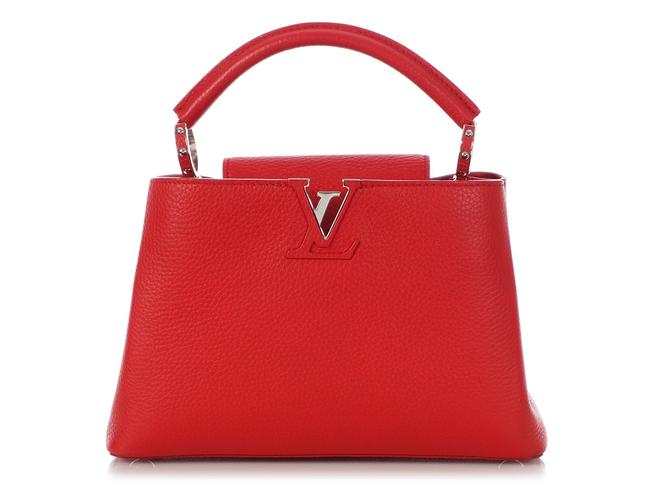 Item - Capucines Rubis Red Taurillon Leather Cross Body Bag
