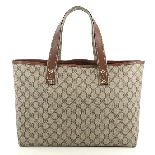 Gucci Canvas Tote in brown Image 2