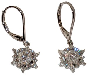 Diamonique Diamonique Cubic Zirconia Sterling Silver Drop Earrings Wedding Bride