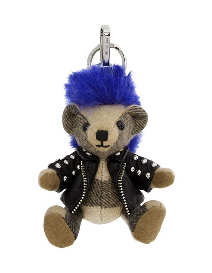 Burberry NWT BURBERRY THOMAS PUNK KEY CHARM KEY RING CHECK CASHMERE Image 0