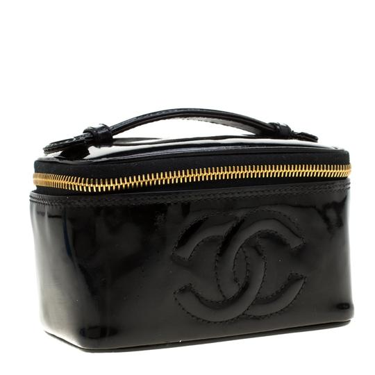 Chanel Patent Leather Black Clutch Image 3