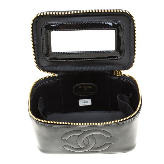 Chanel Patent Leather Black Clutch Image 6