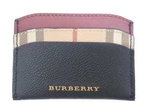 Burberry Soft Grain Haymarket Check Card Case