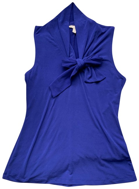 Item - Violet High Neck Bow Tie Sleeveless Blouse Size 4 (S)
