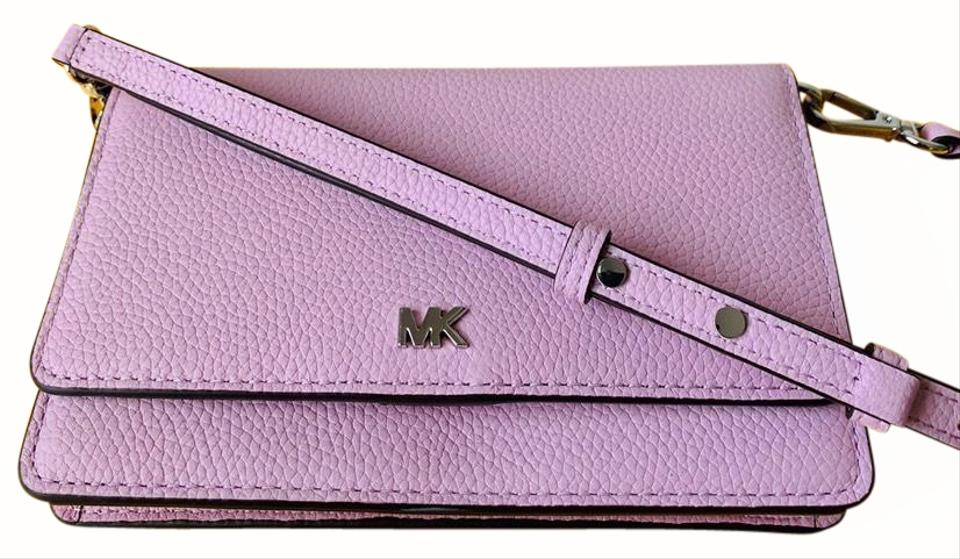 Michael Kors Phone CrossbodyWallet Pale Lilac (Pink) Leather Cross Body Bag 33% off retail