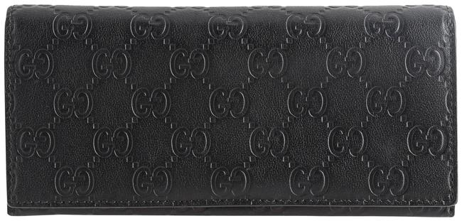 Gucci Black Guccissima Continental Flap Wallet Gucci Black Guccissima Continental Flap Wallet Image 1