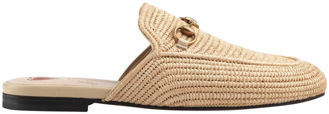 Item - Beige Princetown Raffia Straw Sand Nude Slide Loafer Mule Slipper Flats Size EU 34.5 (Approx. US 4.5) Regular (M, B)