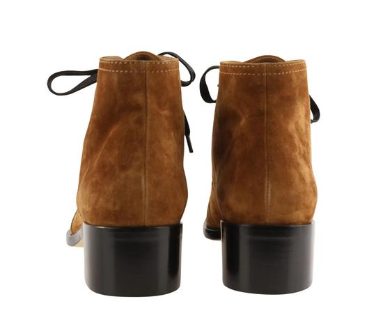 Chanel Suede Patent Leather Leather Gold Hardware Brown Boots Image 3