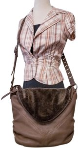 Tylie Malibu Leather Statch Sack brown Messenger Bag