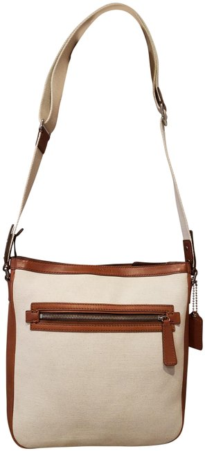 Item - Shoulder Cross Body Beige and Brown Leather Messenger Bag