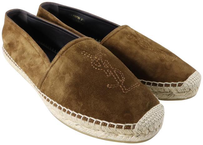 Item - Brown Ysl Ember Land Suede Logo Classic Espadrilles C171 Flats Size EU 39.5 (Approx. US 9.5) Regular (M, B)