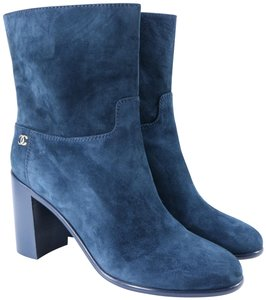 Chanel Teal Fall blue Boots