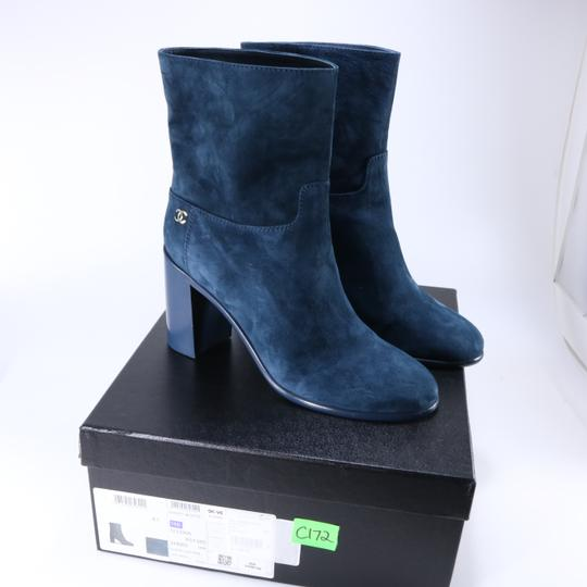 Chanel Teal Fall blue Boots Image 1