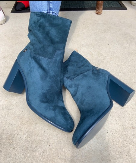 Chanel Teal Fall blue Boots Image 2